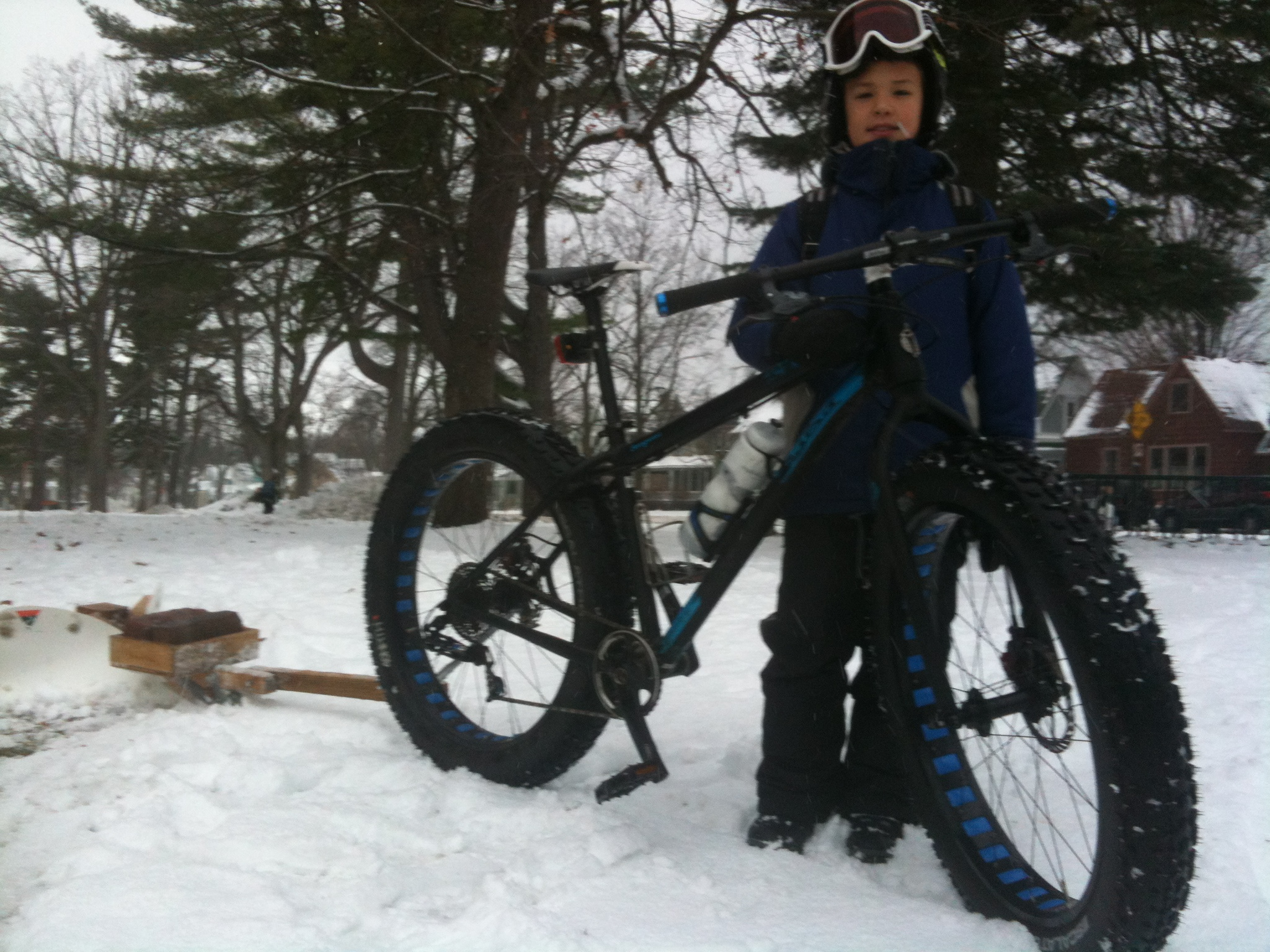 Bike-Powered Snow Plowing with NORTE! Youth Cycling